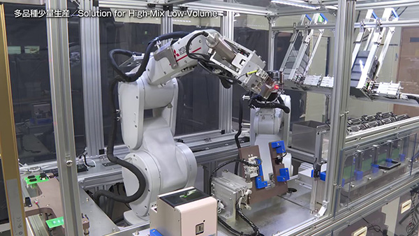 三菱電機MELFAでの多品種少量生産自動組み立て